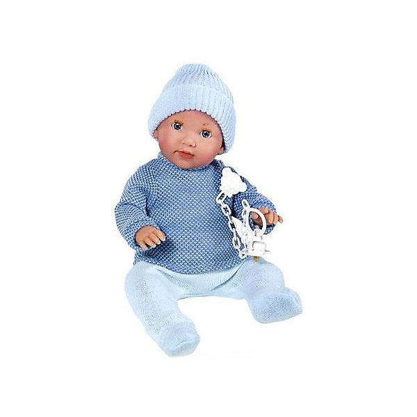 Vestida de Azul Кукла-пупс Vestida de Azul Анджело с закрывающимися глазами и с соской, 38 см (звук) нтм кукла пупс с бутылочкой и соской