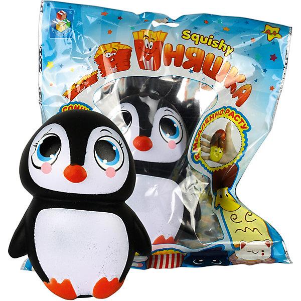 Игрушка-антистресс 1Toy Мммняшка ПингвинСквиши<br>Характеристики товара:<br><br>• возраст: от 4 лет;<br>• материал: полимер;<br>• размер упаковки: 35х30х8 см;<br>• вес упаковки: 70 гр.<br><br>Игрушка-антистресс Мммняшка «Пингвин» поможет успокоиться и сосредоточить мысли. Она выполнена из мягкого материала, приятная на ощупь, а также вкусно пахнет. Стоит только сжать ее в руке, и отпустить, как она медленно примет первоначальную норму. Благодаря небольшому шнурку игрушку можно крепить на рюкзак или сумку и всегда носить с собой.<br><br>Игрушку-антистресс Мммняшка «Пингвин» можно приобрести в нашем интернет-магазине.