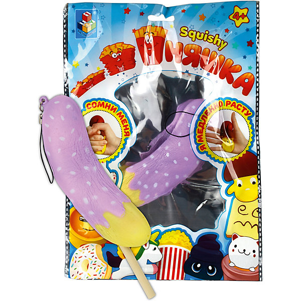 1Toy Игрушка-антистресс Мммняшка Банан в карамели