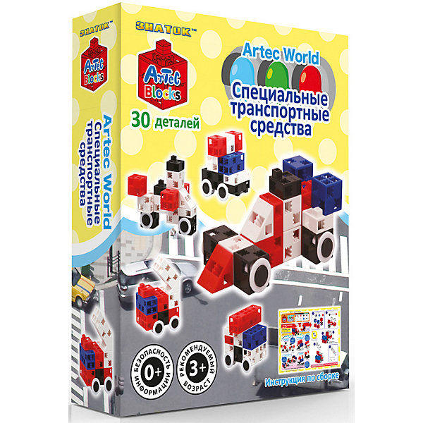 Знаток Конструктор Знаток Artec Bloks Специальные транспортные средства, 30 деталей знаток конструктор знаток artec bloks прибрежные животные 30 деталей