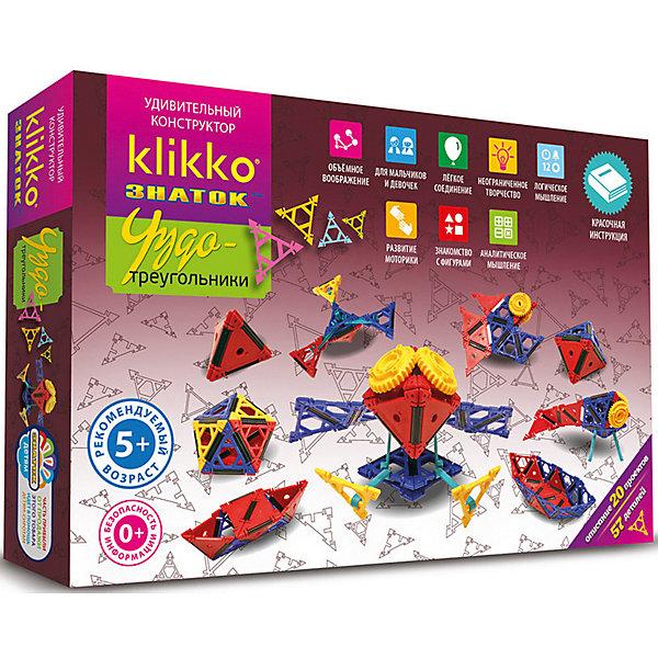 Знаток Удивительный конструктор Klikko Чудо треугольники, 57 деталей