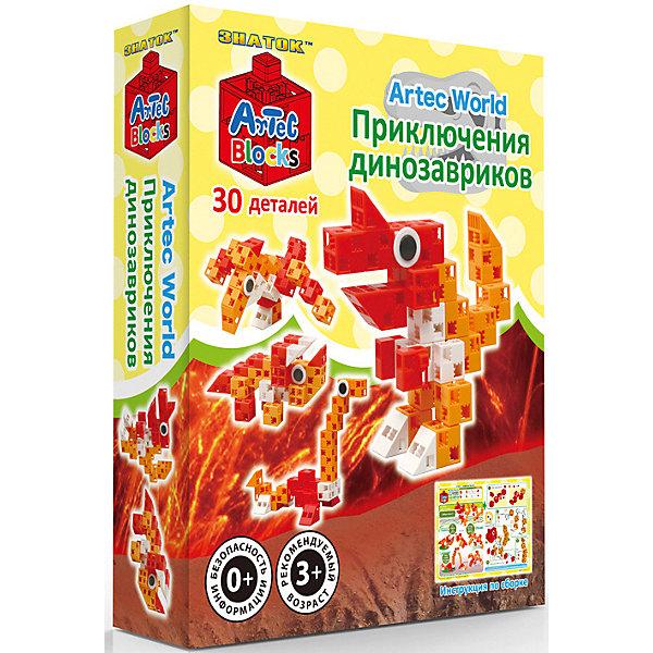 Купить Конструктор Znatok ARTEC World Приключения динозавриков коробка 30дет./72шт., Знаток, Китай, Унисекс
