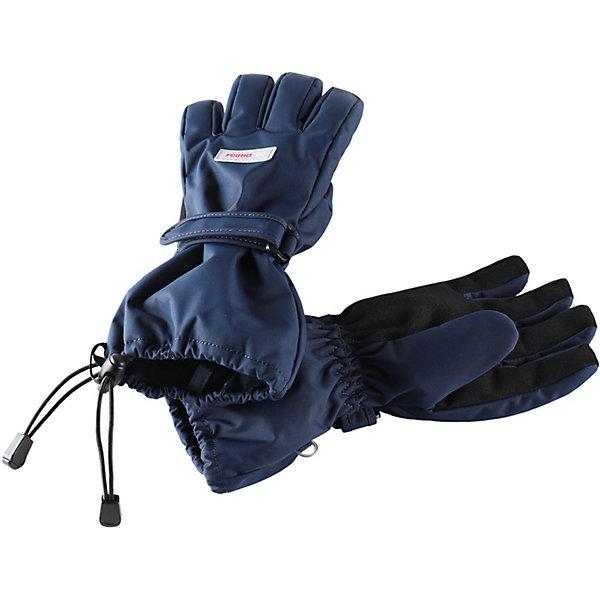 Перчатки ReimaПерчатки<br>Характеристики товара:<br><br>• состав: 100% полиамид, полиуретановое покрытие <br>• подкладка: 100% полиэстер, флис <br>• утеплитель: PrimaLoft® Silver 170 гр/м2<br>• сезон: зима <br>• температурный режим: от -10 до -30С<br>• водонепроницаемость: 15000 мм <br>• воздухопроницаемость: 7000 г/м2/24 ч <br>• износостойкость: 40000 <br>• водо- и ветронепроницаемый, дышащий материал <br>• застежка: резинка и ремешок <br>• усиленные накладки на ладонях и кончиках пальцев<br>• светоотражающие детали <br>• страна бренда: Финляндия<br><br>Параметры изделия:<br><br>• Ширина ладони: 9.5 см<br>• Длина ладони: 14 см<br>• Длина большого пальца: 5 см<br><br>Эти зимние перчатки Reimatec®+ для малышей и детей постарше очень функциональны. Они очень теплые, абсолютно непромокаемые, дышащие и эластичные. Мягкая, симпатичная и приятная на ощупь внутренняя подкладка из флиса обеспечивает дополнительное утепление. Для увеличения прочности варежек на ладони и пальцах предусмотрены усиления. Перчатки застегиваются на запястье с помощью прочной и удобной липучки и ремешка. Идеальный вариант для активных игр на свежем воздухе.