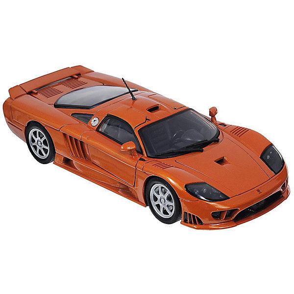 Autotime Коллекционная машинка Autotime Saleen S7, 1:18, оранжевая autotime коллекционная модель автомобиля saleen s7 цвет оранжевый масштаб 1 18