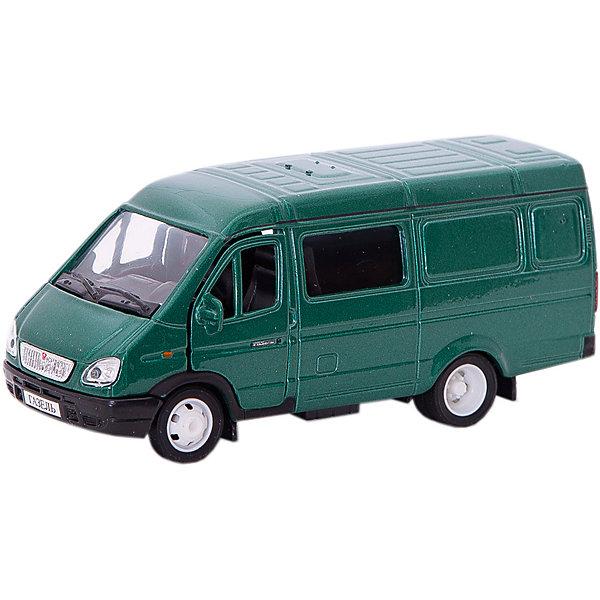 Autotime Машинка Autotime Газель Комби, 1:43, зеленая