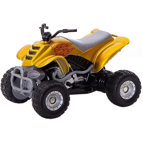 Коллекционный квадроцикл Autotime Quadrobike Fire, 1:16, золотаяМашинки<br>Характеристики:<br><br>• возраст: от 3 лет;<br>• материал: пластик, металл;<br>• масштаб: 1:16;<br>• цвет: золотой;<br> • тип батареек: 2 x AG13 / LR44 (миниатюрные);<br>• наличие батареек: входят в комплект;<br>• размер: 16x11x8 см;<br>• бренд: Autotime.<br><br>Коллекционный квадроцикл Autotime Quadrobike Fire, 1:16, золотой представляет собой уменьшенную копию реального мотоцикла. Модель изготовлена из металла, имеет некоторые пластиковые детали. Мотоцикл выполнен с высокой степенью детализации и максимально приближен к внешнему виду своего прототипа. Если нажать на кнопку сбоку, мотоцикл начнет издавать звуки, имитирующие езду.<br><br>Коллекционный квадроцикл Autotime Quadrobike Fire, 1:16, золотой можно купить в нашем интернет-магазине.<br>Ширина мм: 165; Глубина мм: 114; Высота мм: 86; Вес г: 206; Цвет: золотой; Возраст от месяцев: 36; Возраст до месяцев: 2147483647; Пол: Мужской; Возраст: Детский; SKU: 8648324;