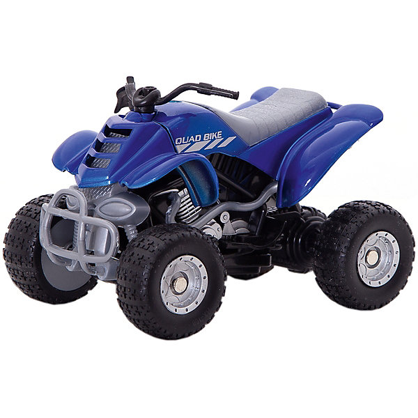 Купить Коллекционный квадроцикл Autotime Quadrobike Fire, 1:16, синяя, Китай, синий, Мужской