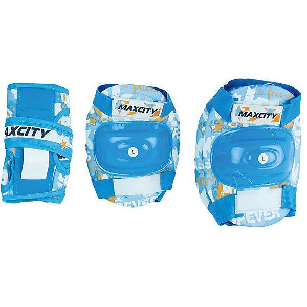 MaxCity Комплект защиты MaxCity Teddy, самокат maxcity crocs pink