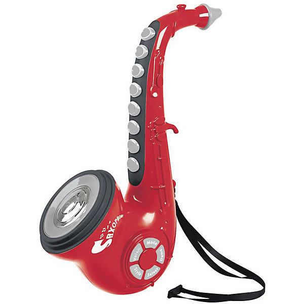 Электронный саксофон PlayGoДругие музыкальные инструменты<br>Характеристики:<br><br>• возраст: от 3 лет;<br>• материал: пластик;<br>• тип батареек: АА; <br>• размер: 26х18х18 см;<br>• вес: 1,2 кг;<br>• бренд: PlayGo.<br><br>Электронный саксофон PlayGo - музыкальная игрушка, которая позволит вашему ребенку почувствовать себя настоящим музыкантом. Есть записанные мелодии, которые можно проигрывать, изображая игру на саксофоне. А можно попытаться сыграть свою мелодию. Для этого имеются разные режимы. Саксофон снабжен текстильным шнурком, чтобы можно было повесить его на шею музыканту. Для работы саксофона требуются батарейки типа АА. Электронный саксофон способствует развитию слуха, чувства.<br><br>Электронный саксофон PlayGo можно купить в нашем интернет-магазине.<br>Ширина мм: 18; Глубина мм: 46; Высота мм: 28; Вес г: 1200; Цвет: красный; Возраст от месяцев: 36; Возраст до месяцев: 60; Пол: Унисекс; Возраст: Детский; SKU: 8650158;