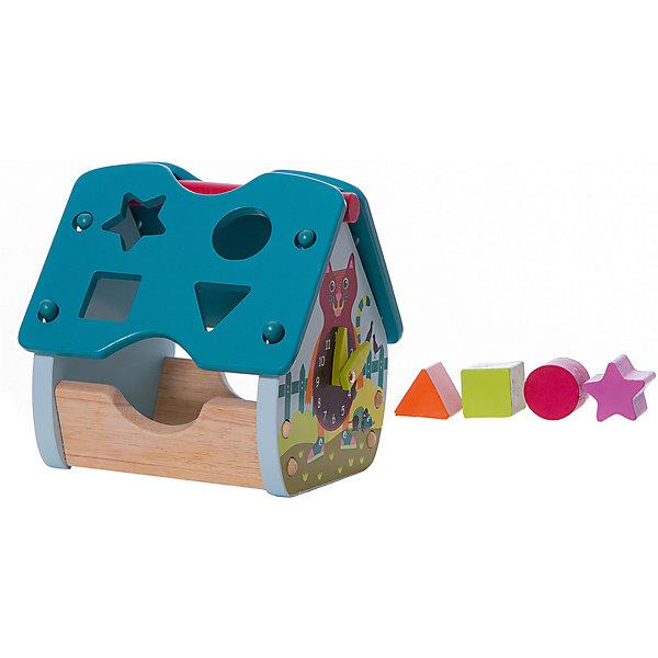Домик-сортер в ассортиментеРазвивающие игрушки<br>Характеристики:<br><br>• возраст: от 2 лет;<br>• материал: дерево;<br>• размер: 22х24х22 см;<br>• вес: 1,8 кг;<br>• бренд: Oops.<br><br>Домик-сортер в ассортименте – это замечательный набор для комплексного развития мануальных навыков у малыша, а также его первое знакомство с цветами. Домик выполнен из множества исключительно из деревянных деталек разных цветов, таким образом игра с таким набором получится весёлой и абсолютно безопасной. <br><br>В комплекте с домиком множество элементов разной формы и цвета, а на домике под каждый элемент есть своя выемка, в которую необходимо вставить соответствующую фигурку. Играя с домиком-сортером, малыш развивает логику, моторику рук и внимание, а также значительно расширяет своей кругозор.<br><br>Домик-сортер в ассортименте можно купить в нашем интернет-магазине.<br>Ширина мм: 24; Глубина мм: 22; Высота мм: 22; Вес г: 1810; Цвет: синий; Возраст от месяцев: 12; Возраст до месяцев: 36; Пол: Унисекс; Возраст: Детский; SKU: 8650168;