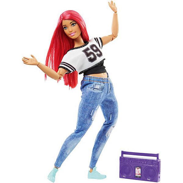 Кукла Barbie Спортсменка Уличные танцы, 29 смКуклы модели<br>Характеристики товара:<br><br>• возраст: от 3 лет;<br>• материал: пластик, текстиль;<br>• в комплекте: кукла, аксессуары;<br>• высота куклы: 29 см;<br>• размер упаковки: 33х16,5х6,5 см;<br>• вес упаковки: 303 гр.<br><br>Куклы-спортсменки Barbie — самые настоящие куколки, которые занимаются спортом. На кукле одета удобная одежда для занятий спортом, а также в комплекте идут необходимые аксессуары. Главное отличие куклы-спортсмены — у нее целых 22 точки артикуляции: на шее, плечах, локтях, ногах, коленях. Поэтому кукла может принимать множество различных поз, так необходимых для занятий спортом.<br>Ширина мм: 65; Глубина мм: 165; Высота мм: 330; Вес г: 303; Возраст от месяцев: 36; Возраст до месяцев: 120; Пол: Женский; Возраст: Детский; SKU: 8650199;