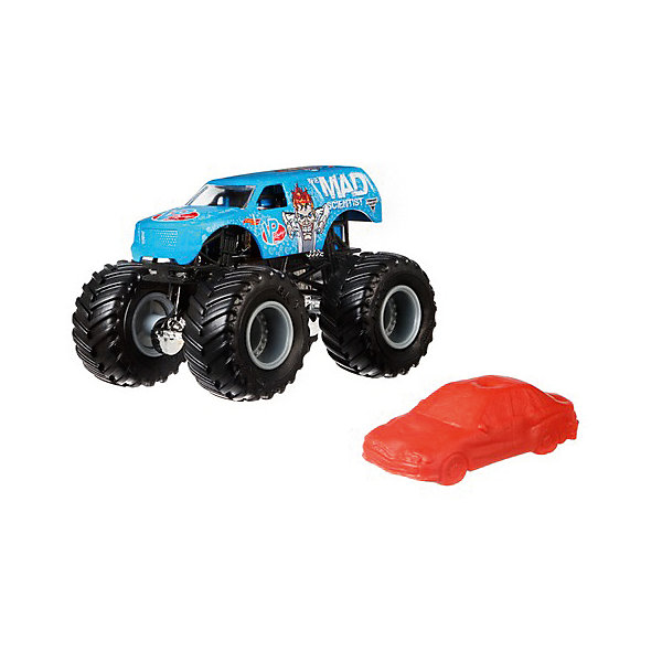 Базовая машинка Hot Wheels Monster Jam The Mad ScientistМашинки<br>Характеристики товара:<br><br>• возраст: от 3 лет;<br>• материал: пластик, металл;<br>• масштаб: 1:64;<br>• размер упаковки: 18х14х6 см;<br>• вес упаковки: 170 гр.<br><br>Базовые машинки Hot Wheels Monster Jam отличаются своими яркими расцветками. Машинки данной серии оснащены большими мощными колесами. Игрушка выполнена из ударопрочных качественных материалов.<br>Ширина мм: 60; Глубина мм: 140; Высота мм: 180; Вес г: 170; Возраст от месяцев: 48; Возраст до месяцев: 96; Пол: Мужской; Возраст: Детский; SKU: 8650201;
