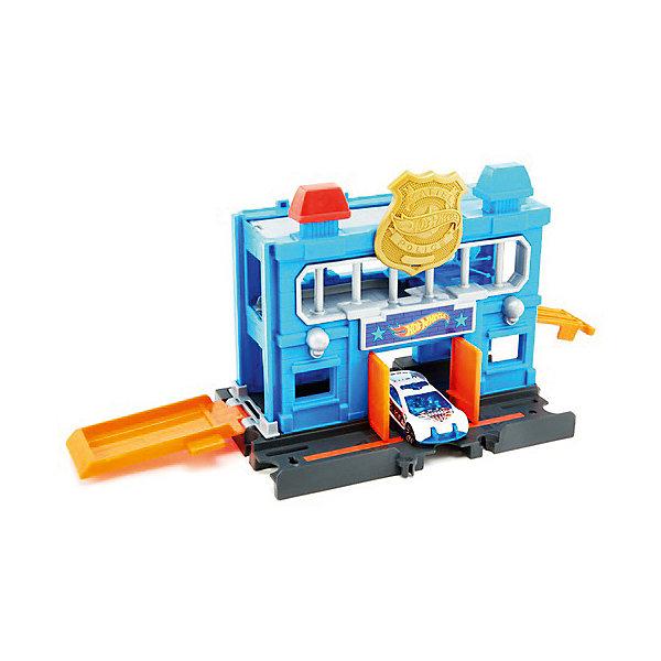 Купить Автотрек Hot Wheels Сити Полицейский участок, Mattel, Китай, Мужской