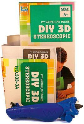 3Д ручка DIY 3D Stereoscopic  3D Magic Glue  Машинка, 1 ручка, артикул:8650393 - 3D ручки