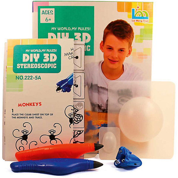 3D Stereoscopic 3Д ручка DIY 3D Stereoscopic 3D Magic Glue Ящерица, 2 ручки