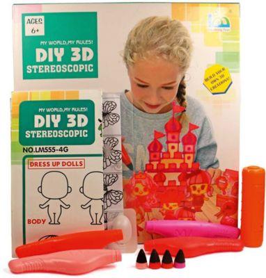 3Д ручка DIY 3D Stereoscopic  3D Magic Glue  Принцессы, 4 ручки, артикул:8650403 - 3D ручки