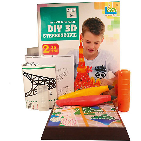3D Stereoscopic 3Д ручка DIY 3D Stereoscopic 3D Magic Glue Эйфелева Башня, 2 ручки