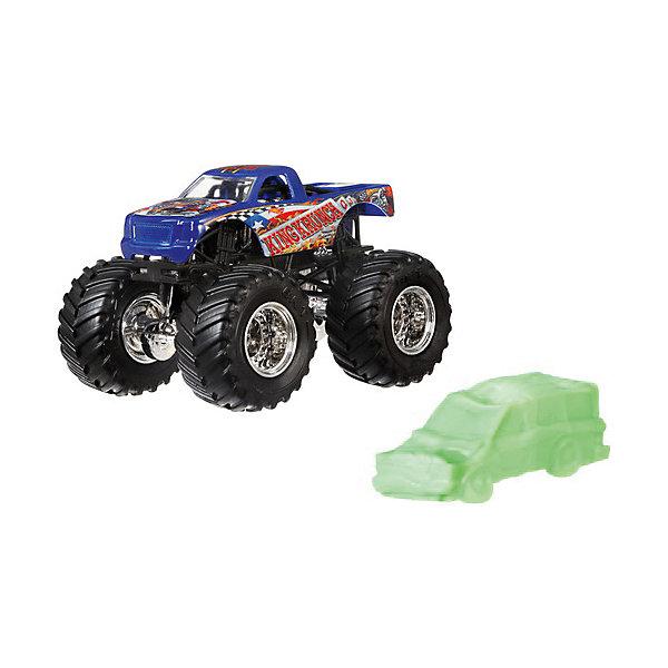 Базовая машинка Hot Wheels Monster Jam KingkrunchМашинки<br>Характеристики товара:<br><br>• возраст: от 3 лет;<br>• материал: пластик, металл;<br>• масштаб: 1:64;<br>• размер упаковки: 18х14х6 см;<br>• вес упаковки: 170 гр.<br><br>Базовые машинки Hot Wheels Monster Jam отличаются своими яркими расцветками. Машинки данной серии оснащены большими мощными колесами. Игрушка выполнена из ударопрочных качественных материалов.<br>Ширина мм: 60; Глубина мм: 140; Высота мм: 180; Вес г: 170; Возраст от месяцев: 48; Возраст до месяцев: 96; Пол: Мужской; Возраст: Детский; SKU: 8652684;