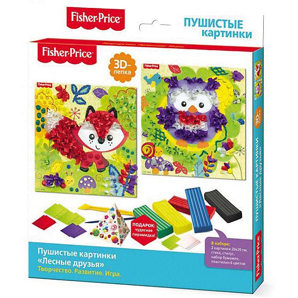 Купить Набор для 3D-лепки Origami Fisher-Price Лесные друзья, Россия, красный/зеленый, Унисекс