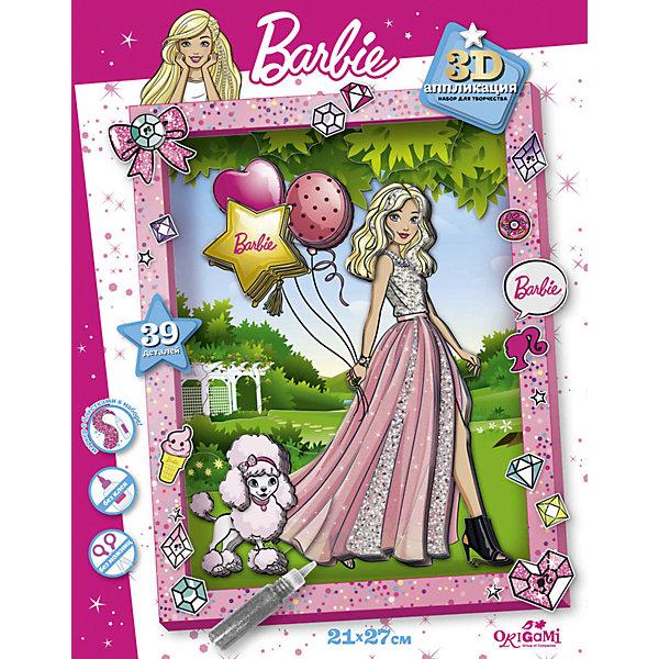 Купить Набор для 3D-аппликации Origami Barbie, Россия, зеленый/розовый, Унисекс