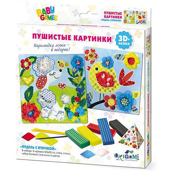 Origami Набор для 3D-лепки Origami Пудель с птичкой стилус