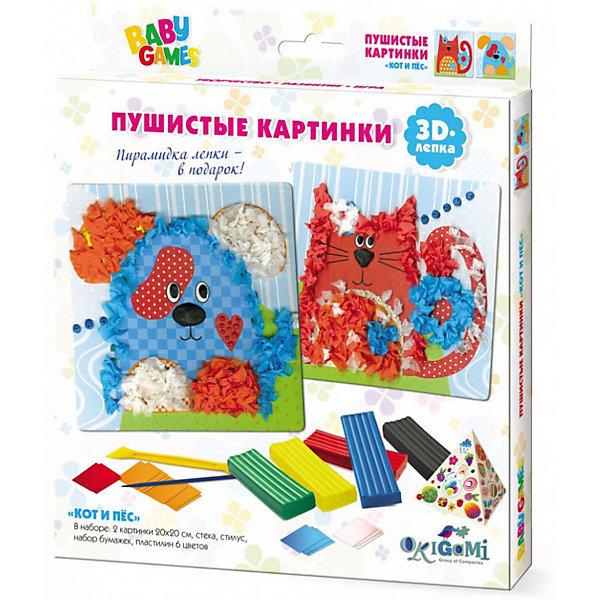 Origami Набор для 3D-лепки Кот и пес