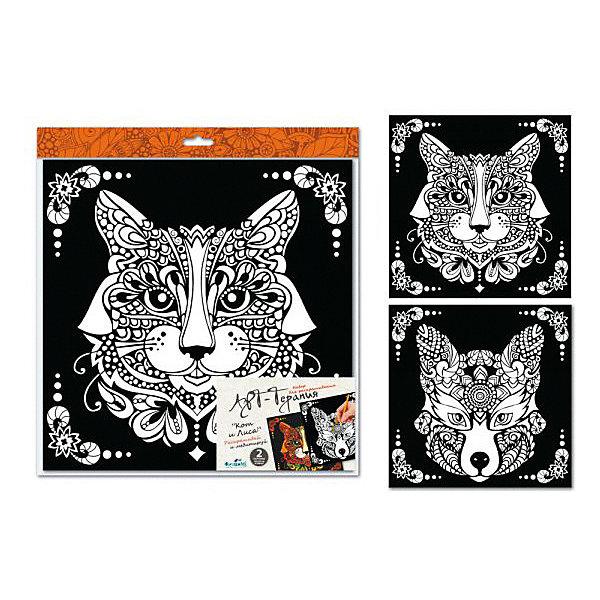 Купить Набор для раскрашивания Origami Арт-терапия Кот и лиса, Россия, Унисекс