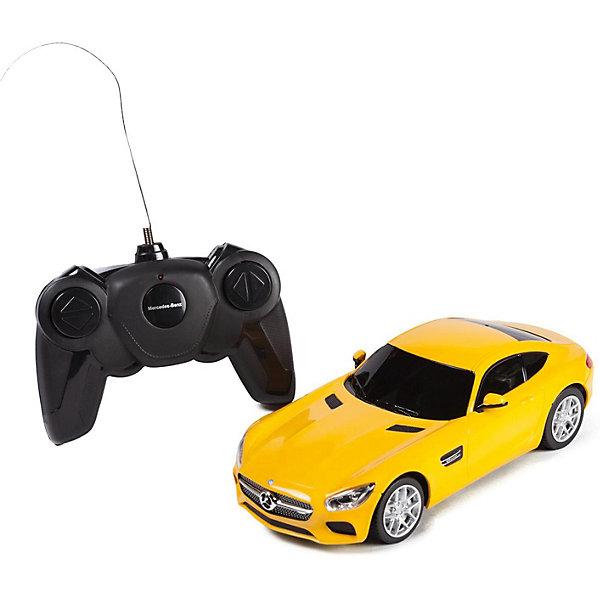 Купить Радиоуправляемая машина Rastar Mercedes AMG GT3 1624, жёлтая, Китай, желтый, Мужской