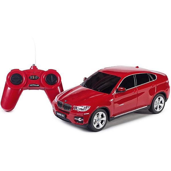 Rastar Радиоуправляемая машина Rastar BMW X6 1:24, красная bburago модель автомобиля bmw x6 m цвет бордовый