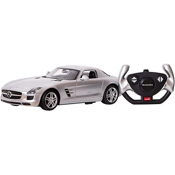 Rastar Радиоуправляемая машина Rastar Mercedes-Benz SLS AMG 1:14, серебряная радиоуправляемые игрушки xq машина mercedes benz sls amg