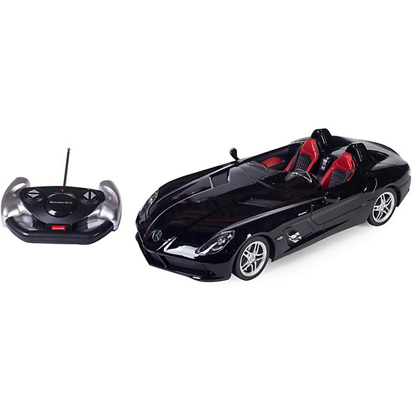 Rastar Радиоуправляемая машина Rastar Mercedes-Benz SLR 1:12, чёрная minichamps 1 18 2007 mercedes mclaren slr roadster alloy model car