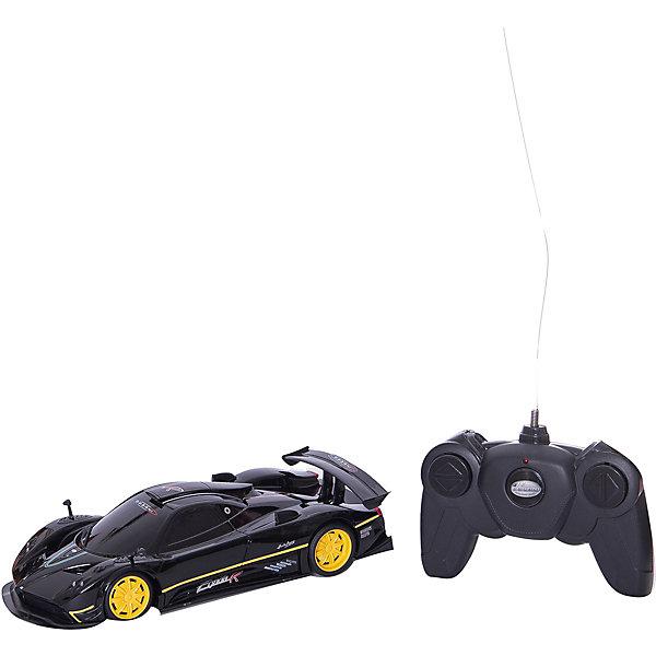 Радиоуправляемая машина Rastar Pagani Zonda R 1:24, чёрнаяРадиоуправляемые машины<br>Характеристики:<br><br>• возраст: от 8 лет;<br>• материал: пластик, металл;<br>• цвет: черный; <br>• масштаб: 1:24;<br>• размер: 37х10х12 см;<br>• вес: 430 гр;<br>• бренд: RASTAR.<br><br>Машина р/у 1:24 Pagani Zonda R,  чёрный 27MHZ станет прекрасным подарком для мальчика! Масштабная радиоуправляемая модель культового автомобиля. Высокая детализация машинки и дистанция управления дадут возможность почувствовать маневренность и легкую управляемость автомобиля.<br><br>Модель имеет четыре направления движения — вперед, назад, вправо, влево. Машинка управляется пультом, отличается потрясающей маневренностью, практически полностью повторяет оригинал.<br><br>Машину р/у 1:24 Pagani Zonda R,  чёрный 27MHZ можно купить в нашем интернет-магазине.<br>Ширина мм: 370; Глубина мм: 120; Высота мм: 100; Вес г: 430; Цвет: черный; Возраст от месяцев: 96; Возраст до месяцев: 180; Пол: Мужской; Возраст: Детский; SKU: 8657462;