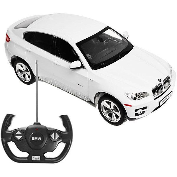 Rastar Радиоуправляемая машина Rastar BMW X6 1:14, белая rastar радиоуправляемая модель porsche cayenne turbo цвет белый масштаб 1 14