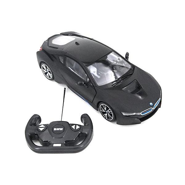 Rastar Радиоуправляемая машина Rastar BMW i8 1:14, чёрная матовая