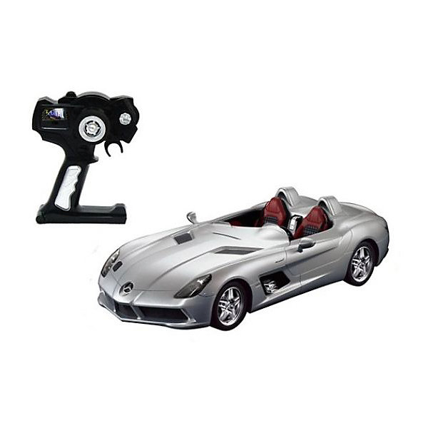 Rastar Радиоуправляемая машина Rastar Mercedes-Benz SLR 1:12, серебряная minichamps 1 18 2007 mercedes mclaren slr roadster alloy model car