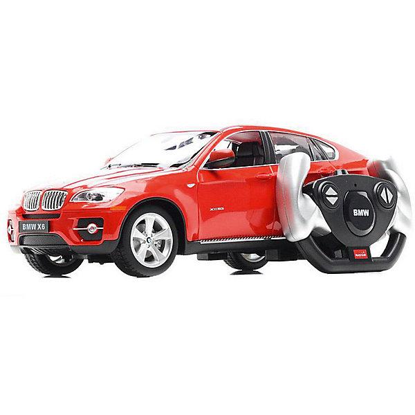 Rastar Радиоуправляемая машина Rastar BMW X6 1:14, красная bburago модель автомобиля bmw x6 m цвет бордовый