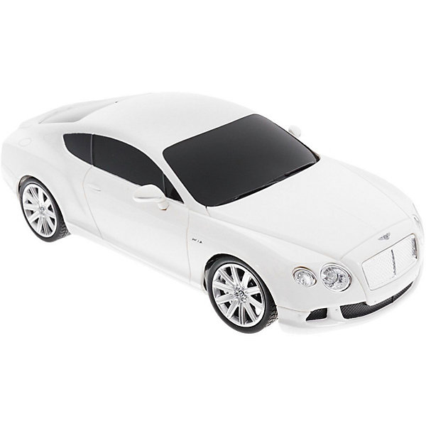 Rastar Радиоуправляемая машина Rastar Bentley Continental GT speed 1:24, белая игрушка welly bentley continental supersports