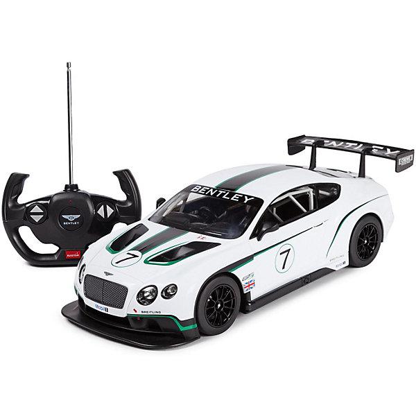 Rastar Радиоуправляемая машина Rastar BentleyContinentalGT3 1:14, белая машинка детская welly машина bentley continental supersports 1 24