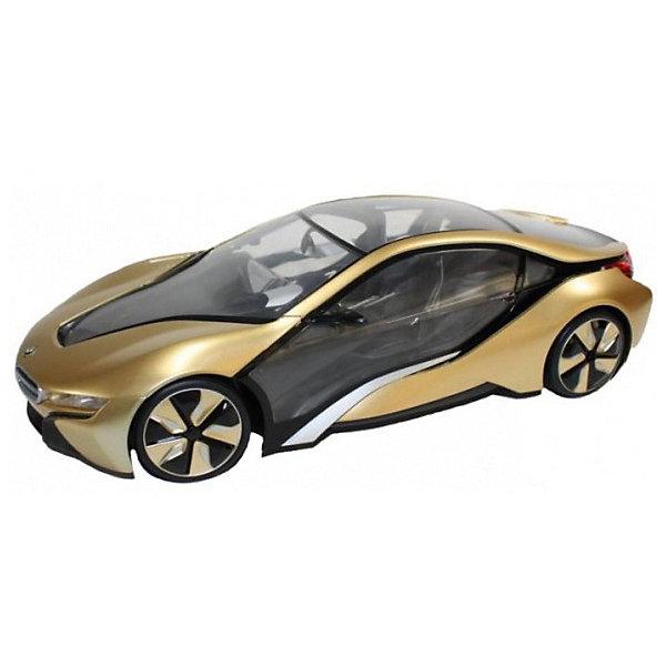 Rastar Радиоуправляемая машина Rastar BMW I8 1:14, золотая rastar rastar радиоуправляемая машина bmw i8 масштаб 1 14 золотая