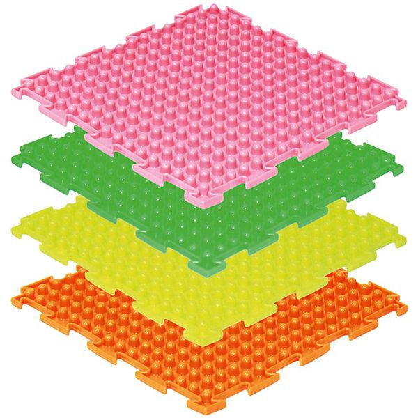 Модульный массажный коврик ОртоДон Шипы Флуоресцентные 8 шт., мягкиеМассажеры<br>Характеристики:<br><br>• возраст: от 3 лет;<br>• материал: ПВХ;<br>• количество модулей: 8;<br>• флуоресцентные цвета: оранжевый, лимонный, салатовый, малиновый;<br>• размер одного модуля: 25х25 см;<br>• жесткость: мягкие;<br>• назначение: для ступней;<br>• цель: снятие напряжения и нагрузки с ног;<br>• вес упаковки: 2,5 кг.;<br>• размер упаковки: 27х14х27 см;<br>• страна бренда: Россия.<br><br>Модульный коврик Орто «Шипы» предназначен для массажа стоп детей и взрослых. Коврик собирается как пазл, светится яркими цветами под воздействием ультрафиолета. Поверхность модулей состоит из множества шипов среднего размера.<br>Ширина мм: 270; Глубина мм: 140; Высота мм: 270; Вес г: 2500; Цвет: разноцветный; Возраст от месяцев: 36; Возраст до месяцев: 2147483647; Пол: Унисекс; Возраст: Детский; SKU: 8659315;