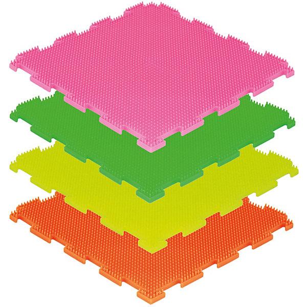 Модульный массажный коврик ОртоДон Трава Флуоресцентные 8 шт., мягкиеМассажеры<br>Характеристики:<br><br>• возраст: от 3 лет;<br>• материал: ПВХ;<br>• количество модулей: 8;<br>• флуоресцентные цвета: оранжевый, лимонный, салатовый, малиновый;<br>• размер одного модуля: 25х25 см;<br>• жесткость: мягкие;<br>• назначение: для ступней;<br>• цель: легкий массаж мышц, релаксация;<br>• вес упаковки: 2,5 кг.;<br>• размер упаковки: 27х14х27 см;<br>• страна бренда: Россия.<br><br>Модульный коврик Орто «Трава» предназначен для массажа стоп детей и взрослых. Коврик собирается как пазл, светится яркими цветами под воздействием ультрафиолета. Поверхность модулей состоит из множества мелких шипов.<br>Ширина мм: 270; Глубина мм: 140; Высота мм: 270; Вес г: 2500; Цвет: разноцветный; Возраст от месяцев: 36; Возраст до месяцев: 2147483647; Пол: Унисекс; Возраст: Детский; SKU: 8659328;