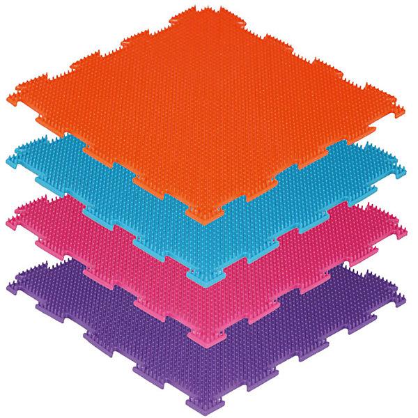 Модульный массажный коврик ОртоДон Трава 8 шт., жёсткиеМассажеры<br>Характеристики:<br><br>• возраст: от 3 лет;<br>• материал: ПВХ;<br>• количество модулей: 8;<br>• цвета: оранжевый, голубой, фиолетовый, малиновый;<br>• размер одного модуля: 25х25 см;<br>• жесткость: жесткие;<br>• назначение: для ступней;<br>• цель: стимуляция мыщц ступни, улучшение кровообращения, снижение отечности ног;<br>• вес упаковки: 2,5 кг.;<br>• размер упаковки: 27х14х27 см;<br>• страна бренда: Россия.<br><br>Модульный коврик Орто «Трава» предназначен для массажа стоп детей и взрослых. Коврик собирается как пазл. Поверхность модулей состоит из множества мелких шипов.<br>Ширина мм: 270; Глубина мм: 140; Высота мм: 270; Вес г: 2500; Цвет: разноцветный; Возраст от месяцев: 36; Возраст до месяцев: 2147483647; Пол: Унисекс; Возраст: Детский; SKU: 8659354;