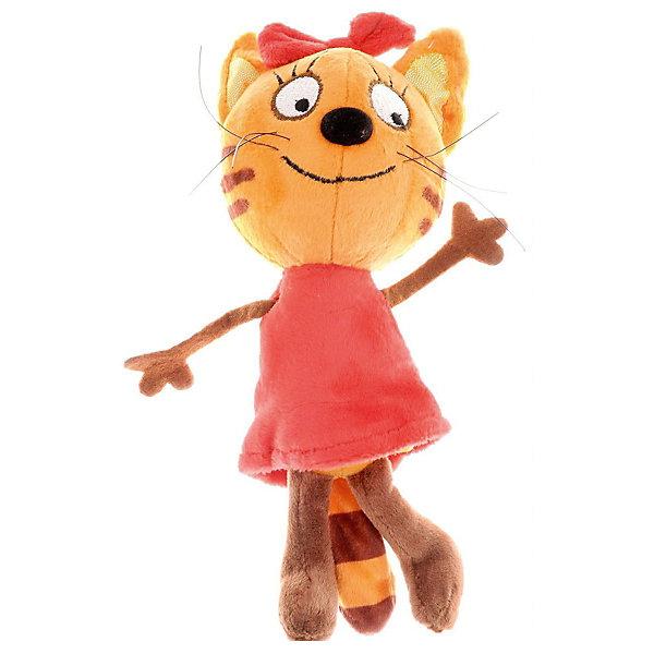 МУЛЬТИ-ПУЛЬТИ Мягкая игрушка Мульти-Пульти 3 кота Карамелька, озвученная, 16 см мягкие игрушки мульти пульти винни пух 25 см