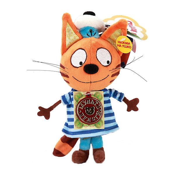 МУЛЬТИ-ПУЛЬТИ Мягкая игрушка Мульти-Пульти 3 кота Коржик, озвученная, 18 см маклейн дж большая книга приключений с наклейками