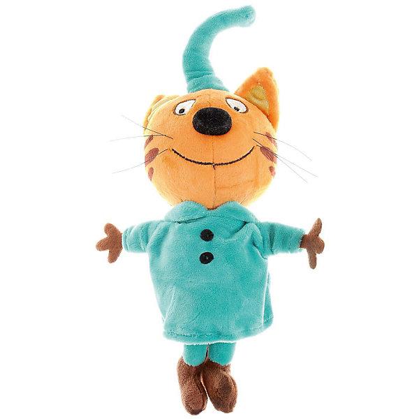 Мягкая игрушка Мульти-Пульти 3 кота Компот, озвученная, 20 смМягкие игрушки из мультфильмов<br>Характеристики:<br><br>• возраст: от 3 лет;<br>• материал: текстиль, пластик;<br>• высота: 20 см;<br>• размер: 30х54х38 см;<br>• вес: 42 гр;<br>• страна бренда: Россия;<br>• бренд: Мульти-Пульти.<br><br>Мягкая игрушка Мульти-Пульти «3 кота» Компот станет прекрасным другом для ребёнка. Если нажать на животик игрушки, то она скажет несколько фраз из мультфильма. Кот очень мягкий, приятный на ощупь и сделан из безопасного материала. Размер игрушки 20 см. Играя с ней, ребёнок будет развивать моторику рук, тактильное и звуковое восприятие. Рекомендовано детям от 3 лет. Работает от батареек (входят в комплект).<br><br>Мягкую игрушку Мульти-Пульти «3 кота» Компот можно купить в нашем интернет-магазине.