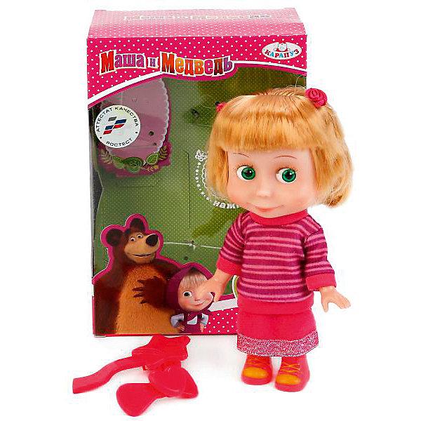"""Кукла Карапуз """"Маша и Медведь"""" Маша, 15 см, Фиолетовый"""