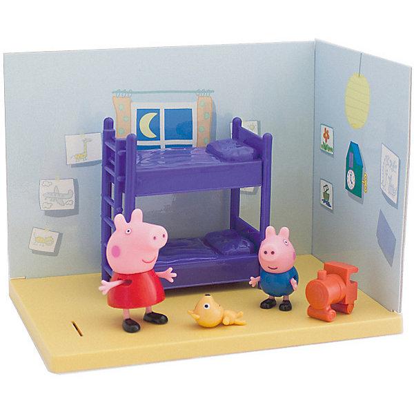 Росмэн Игровой набор Росмэн Спальня Пеппы и Джорджа росмэн игровой набор росмэн ванная комната пеппы и джорджа