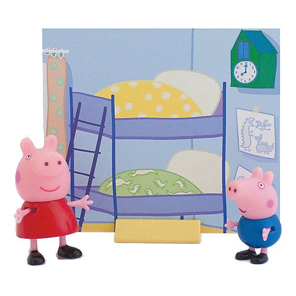 Росмэн Игровой набор Росмэн Пеппа и Джордж росмэн мягкая игрушка пеппа с виноградом 20 см свинка пеппа