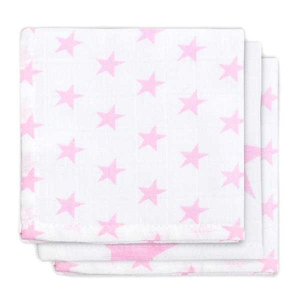 jollein Салфетки для лица, 3шт, Little star pink (Розовые звёзды) monalisa салфетки косметические для лица bellagio 180 шт