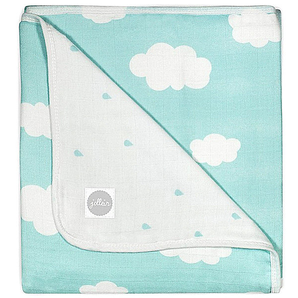 jollein Муслиновое одеяло 120х120см, Clouds Jade (Нефритовые облака) clouds without rain